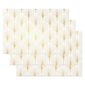 Elegant Art Decor Geometric Retro Pattern Foil Wrapping Paper Sheets
