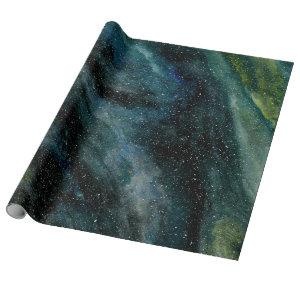Elegant Cosmos Galaxy Watercolor Fine Art Trendy Wrapping Paper
