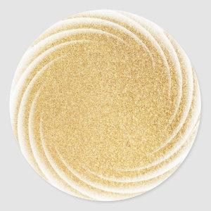 Elegant Faux Gold Glitter Blank Template Glamour Classic Round Sticker