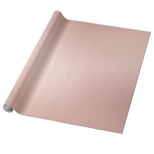 Elegant Glam Rose Gold Metallic Look Modern Golden Wrapping Paper
