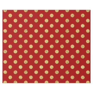 Elegant Gold Foil Polka Dot Pattern - Gold & Red Wrapping Paper
