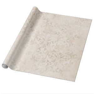 Elegant Ivory damask for all occasions Wrapping Paper