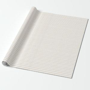 Elegant Ivory Stripes Wrapping Paper