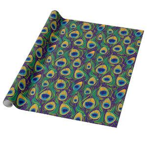 Elegant Peacock Feather Wrapping Paper