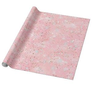 Elegant Pink and Gold Wrapping Paper