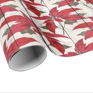 Elegant pretty Christmas floral pattern Wrapping Paper