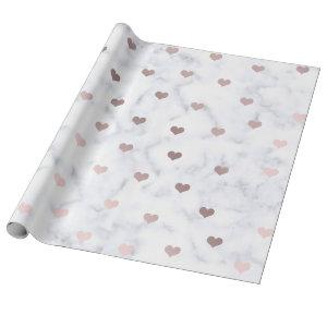 Elegant rose gold Valentine's day heart pattern Wrapping Paper