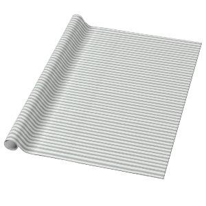Elegant Silver Gray Stripes Wrapping Paper