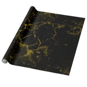 elegant stylish modern chic black and gold marble wrapping paper