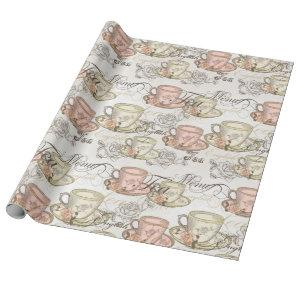 Elegant Tea Party Wrapping Paper