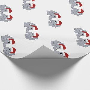 Elephant Christmas Wrapping Paper