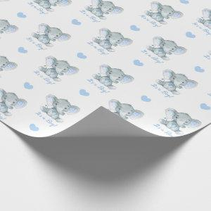 Elephant Wrapping Paper (Blue Personalized)