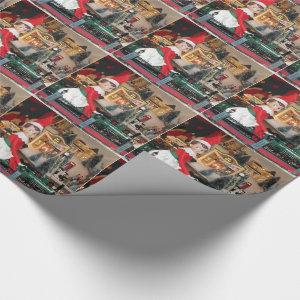 Elf Ride Along (Train) Wrapping Paper