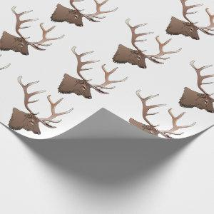 Elk Head Wrapping Paper