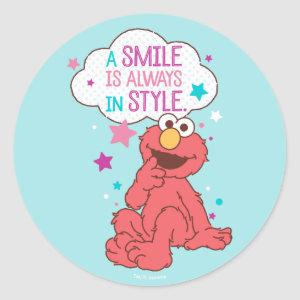 Elmo | A Smile is Always in Style Classic Round Sticker