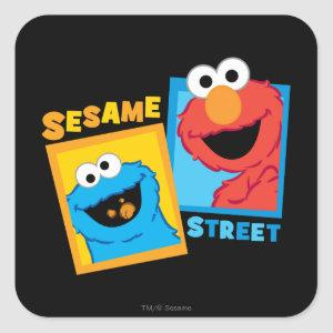 Elmo and Cookie Monster Friends Square Sticker