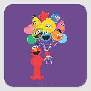 Elmo Balloons Square Sticker