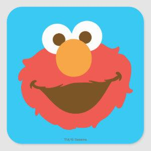 Elmo Face Square Sticker