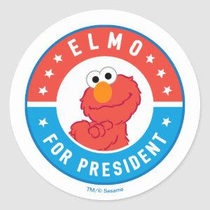 Elmo for President Badge Classic Round Sticker