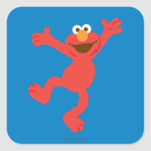 Elmo Happy Dancing Square Sticker