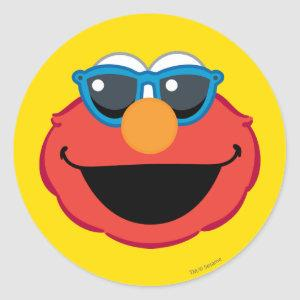Elmo  Smiling Face with Sunglasses Classic Round Sticker