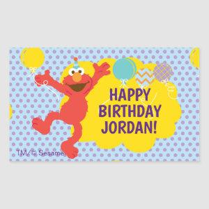 Elmo With Party Balloons Pattern Rectangular Sticker