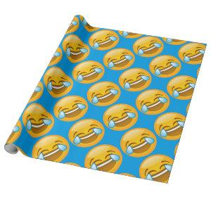 Emoji Laughing Wrapping Paper