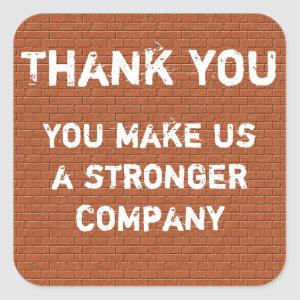 Employee Thank You Appreciation Inexpensive Square Sticker