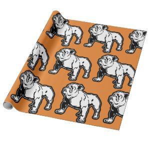English Bulldog Birthday Wrapping Paper