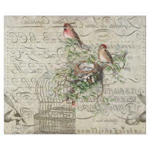 Ephemera Red Bird Decoupage 60lb paper