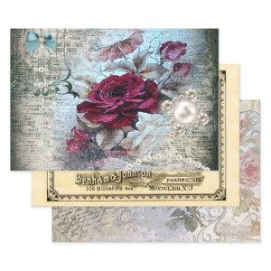 Ephemeral Victorian Variety Decoupage Wrapping Paper Sheets