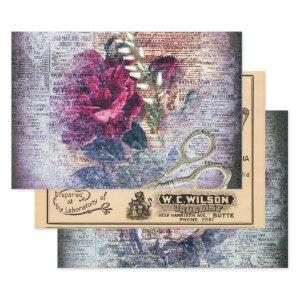 Ephemeral Vintage Variety Decoupage Wrapping Paper Sheets