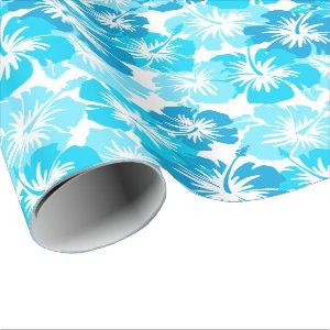 Epic Hibiscus Floral Hawaiian Camo Wrapping Paper