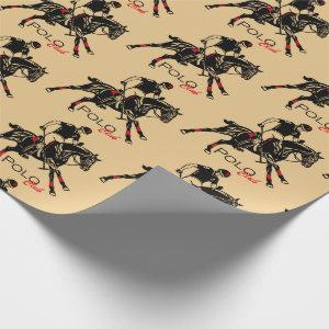 equestrian polo sport club wrapping paper