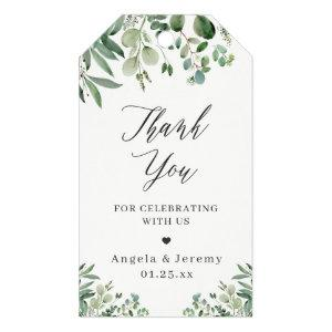 Eucalyptus Leaves Elegant Greenery Thank You Gift Tags
