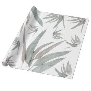 Eucalyptus Leaves Pattern Wrapping Paper