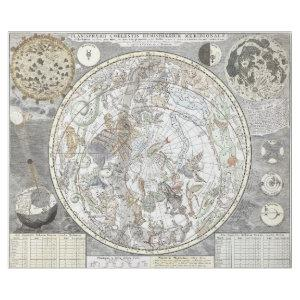 EUROPEAN PLANETSPHERE CONSTELLATION MAP DECOUPAGE WRAPPING PAPER