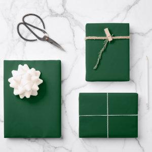 Evergreen Solid Color Wrapping Paper Sheets