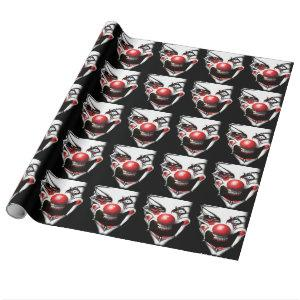Evil Clown Wrapping Paper