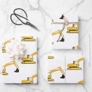 Excavator Construction Truck Wrapping Paper Sheets