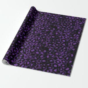 Exotic Leopard Animal Purple Skin Print Wrapping Paper