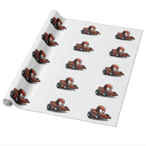 f1 race - grand prix - car cartoon wrapping paper