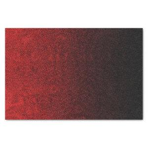 Falln Red & Black Glitter Gradient Tissue Paper