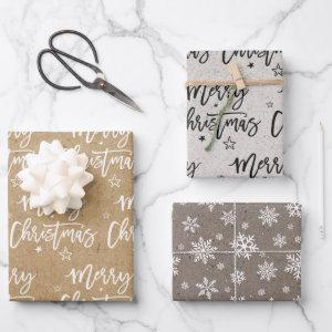 Family name simple christmas holiday Craft Wrappin  Sheets