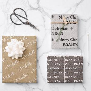 Family name simple christmas holiday Craft  Sheets