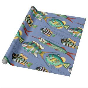 Fanciful Fish Wrapping Paper