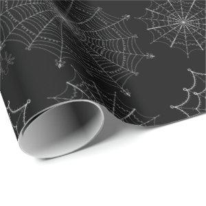 Fancy Halloween Spider Webs Wrapping Paper