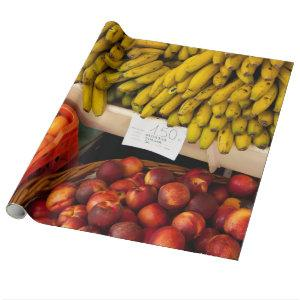 Farmer's Market Fruit Stand Wrapping Paper