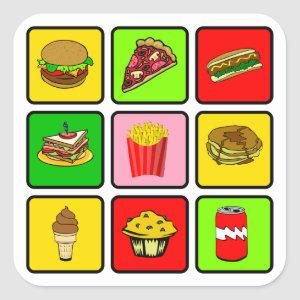 Fast Food Junkie stickers