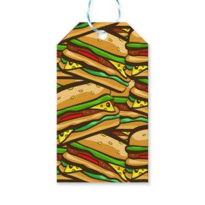 Fast Food Lover Cheese Burger | Personalized Text Gift Tags